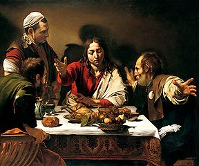 Supper at Emmaus - Caravaggio (1601)